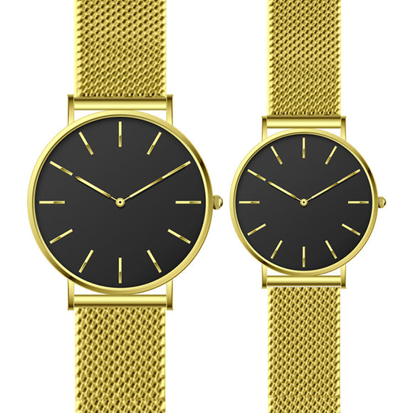Stainless steel quartz watch best simplistic couple watches for marriage gift couple wedding watches