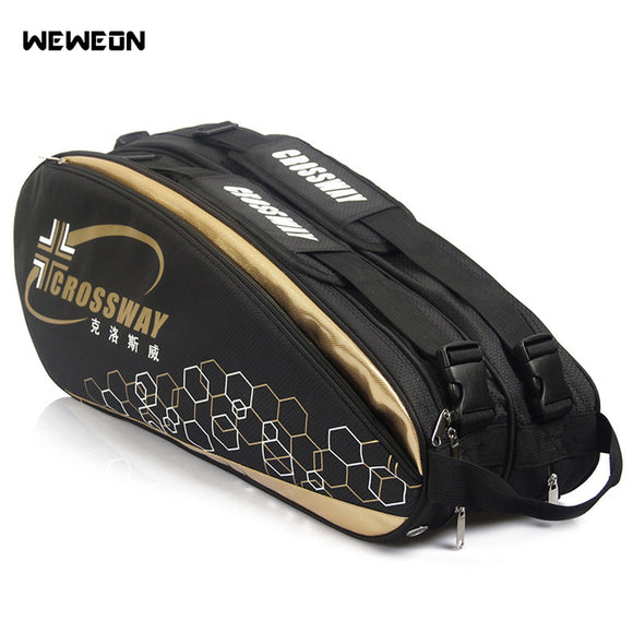 6-12 pcs Large Racket Tennis Bag 2019 Badminton Bag/Accessories Professional Racquet Sports Bag Racket for Shoes Stroage - goldylify.com