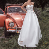 High-grade three-dimensional cut satin elegant wedding dress