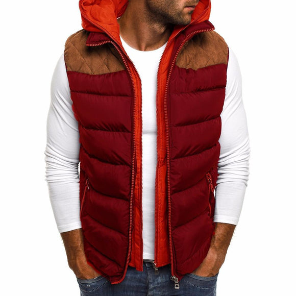 ZOGAA 2020 Causal Solid Simple Zipper Men Down Jacket Sleeveless Winter Coat Men Winter Mens Clothing 4 Colors Men Coat Winter - goldylify.com