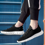 Men 's Casual Shoes 2020 Spring Summer New Fashion Trend of Breathable Flying Woven White Sports Footwear Sneakers