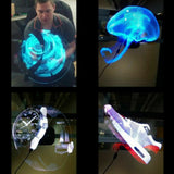 LED 3D Holographic Projector Display Advertising Hologram Player Lamp Fan - goldylify.com