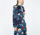 2020 Elegant Floral Printed Vintage Chic Long Sleeve Vestidos De Festa Maxi Women Dress