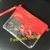 50pcs/lot monogrammed clear stadium bag personalized crossbody clear bag clear purse football game bag women handbag tote - goldylify.com