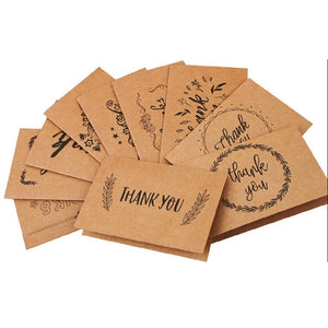 18 Style Blank Thank You Paper Cards Note Envelopes Greeting Wedding Party Reception Crafts - goldylify.com