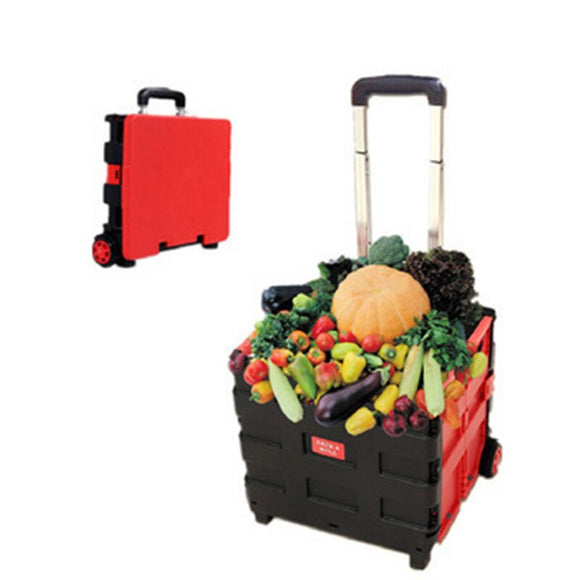 65L Outdoor Camping Equipment Picnic Box Sports Basketball Fishing Pull Rod Vehicle Supermarket Foldable Shopping Luggage Cart - goldylify.com