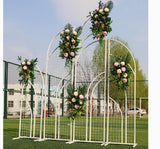 New wedding stage background grid screen door wedding pretend area layout 2019 new wedding wrought iron props - goldylify.com