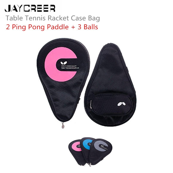 JayCreer Table Tennis Ping Pong Bag Case Pouch Pockets Capacity:6L Size: LXWXH(30X2.5X19CM) Waterproof And Abrasion Resistance - goldylify.com