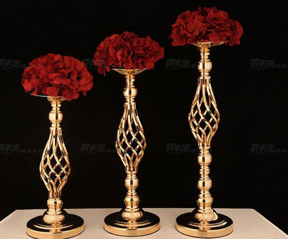 new European style three-piece set of wedding props candlestick road guide hotel furnishings scene layout. - goldylify.com
