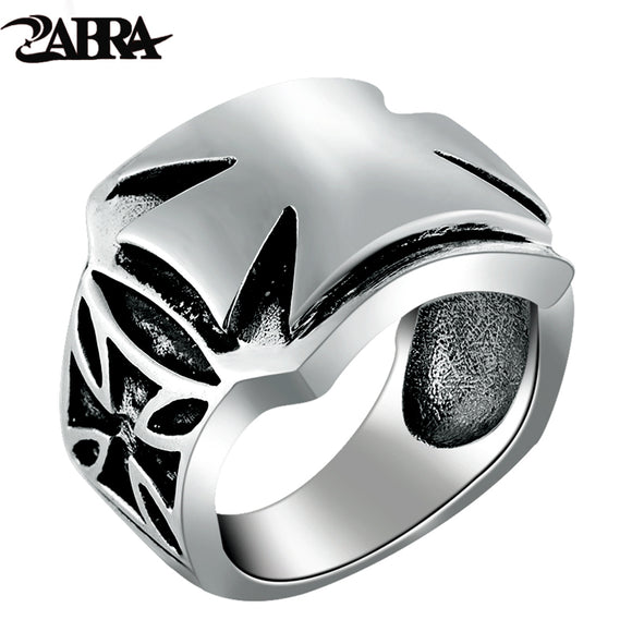ZABRA Authentic 925 Silver Vintage Cross Ring for Men Women Handmade Real Pure 925 Sterling Silver Jewelry for Christian Gift - goldylify.com