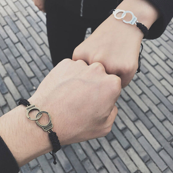 Vintage Adjustable Handmade Bracelet Men Jewelry Handcuffs Charm Bracelet for Women Accessories Friendship Girl Couple Bracelets - goldylify.com