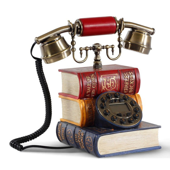 Good art retro classic European antique telephone landline telephone household fixed telephone - goldylify.com