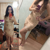 2019 New Sexy Black Gold Sequins Summer Dress Women Midi bodycon Party dress elegant Luxury Night club Dresses vestidos clothes - goldylify.com
