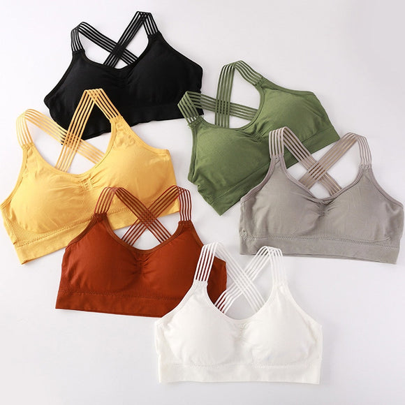 Women Yoga Sport Bra Women Shockproof Sexy Back Sports Bras Breathable Athletic Fitness Running Gym Vest Tops Sportswear Bras - goldylify.com