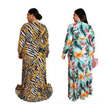 OEM Large size ladies evening african style design clothing traditional kitenge dresses and skirts for women