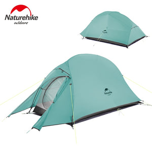 Naturehike New 2 Person Ultralight Professional Camping Tent 20D Silicone Windproof Outdoor Hiking Backpacking Tent Free Mat - goldylify.com