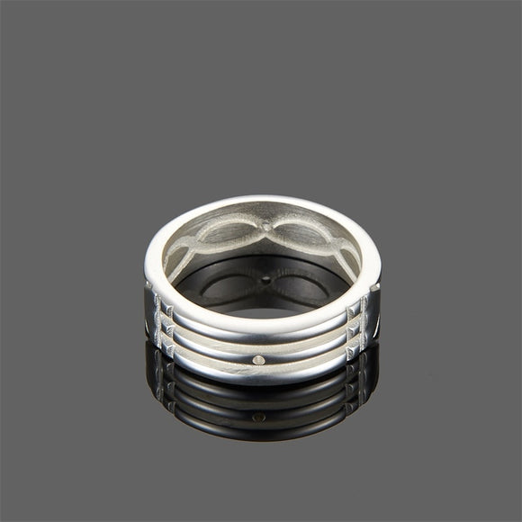 WAWFROK Stainless Steel Trendy Men/women Rings Gold/silver Plated Atlantis Rings for Women/men Engagement/Wedding Ring Jewelry - goldylify.com