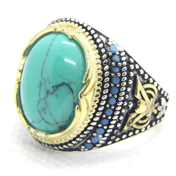 Size 6-12 Newest Design 925 Sterling Silver Green Eye Ring S925 Fashion Jewelry Green Stone Cool Silver Ring - goldylify.com