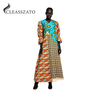 wholesale plus size women clothes Maxi Dress Dashiki african party dress wax print fabric kitenge dress designs