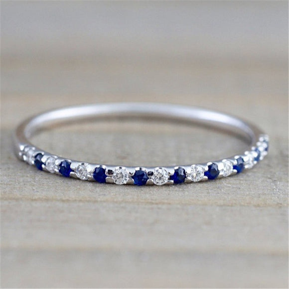Silver Color Sapphire Ring CZ Zircon Engagement Wedding Jewelry Ring for Women and Men Anillos Bizuteria Gemstone Ring - goldylify.com
