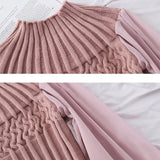 HELIAR Women's Blouse 2020 Spring Casual Lantern Sleeve Chiffon Sleeve Stretchy Blouse Fashion pit knitting Slim Elastic Sweater - goldylify.com
