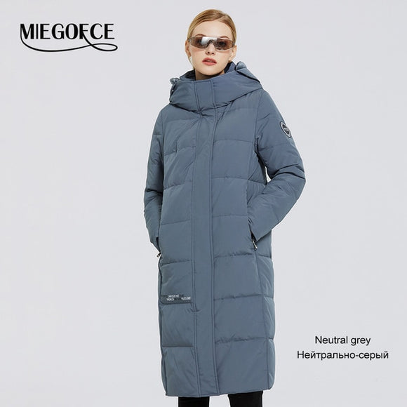New Women's Long Cotton Coats With miegofce Logo Design Winter Waterproof Parkas Windproof Clothes Women's Jacket
