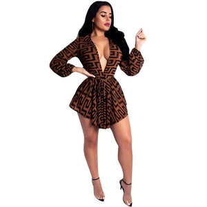2019 New Arrivals Women Fashionable African Kitenge Sexy V-Neck Dress Designs With 3 Colors