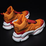 Extra Size Shoes Men Net Red Explosion Models High To Help Old Men's Sneakers