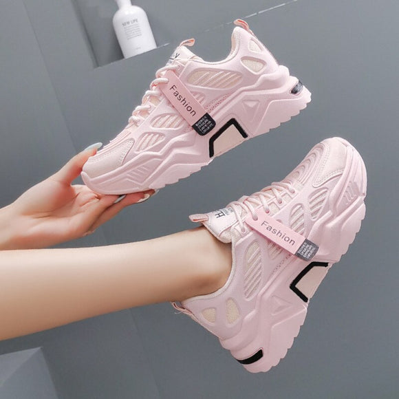 Women Platform Sneakers Chunky Brand Designers Woman Casual Old Dad Shoes