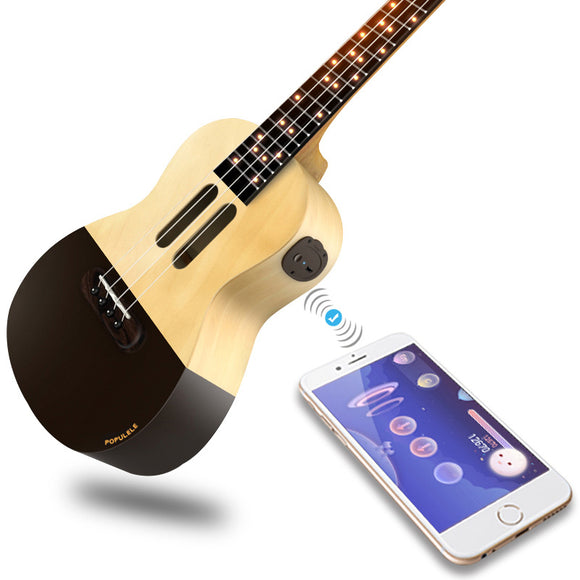 Populele U1 Smart Ukulele Concert Soprano 4 Strings 23 Inch Acoustic Electric Guitar from Xiaomi APP Phone Guitarra Ukulele - goldylify.com