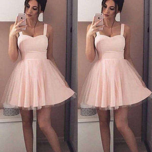 2019 summer New Women strap Sleeveless Evening Party tulle Dress Short Mini Dress elegant female solid ball gown short dresses - goldylify.com