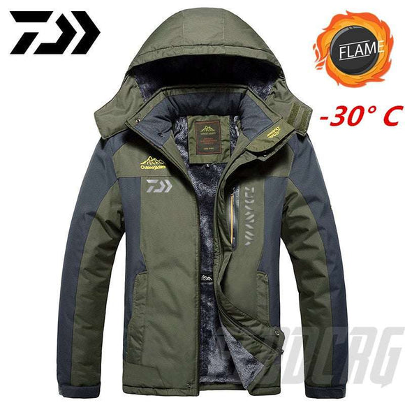 DAIWA Fishing Clothing Winter Autumn Winter Waterproof Warm Fishing Jackets Men Fleece Thick Outdoor Fishing Shirts M-9XL - goldylify.com