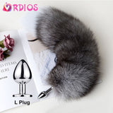 Detachable Anal Plug Real Fox tail Smooth Touch Metal Butt Plug Tail Erotic BDSM Sex Toys for Woman Couples Adult Games Sex Shop - goldylify.com