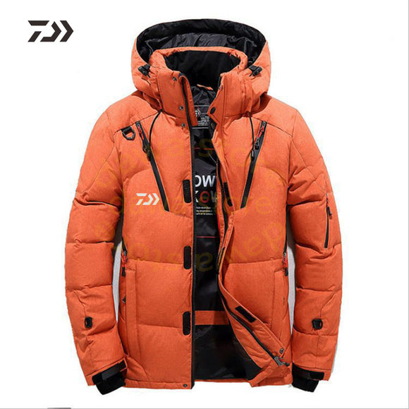 Daiwa Jacket Men's Velvet Fishing Clothes Thicken Thermal Zipper Fishing Shirt Daiwa Winter Fishing Clothing Men Cotton Outdoor - goldylify.com