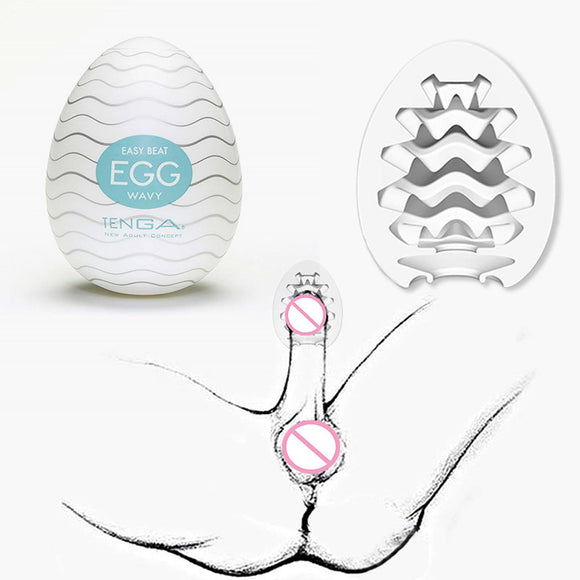 TENGA EGG Sex Cup Male Masturbators For Male Cup Pussy Oral 3D Deep Throat Artificial Vagina Real Pocket Pussy Sex Toys For Men - goldylify.com