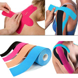 5M Waterproof Breathable Cotton Kinesiology Tape Sports Elastic Roll Adhesive Muscle Bandage Pain Care Tape Knee Elbow Protector - goldylify.com