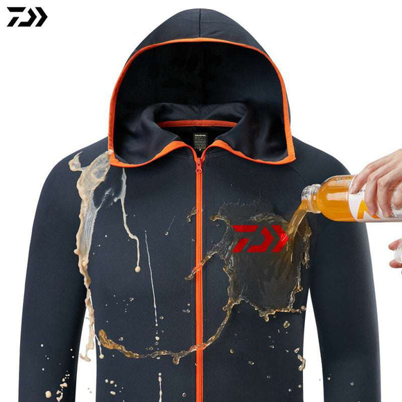 Daiwa Shirt Breathable Fishing Clothing Men Waterproof Fishing Shirts Long Sleeve Fishing Jacket Quick Drying Fishing Clothes - goldylify.com
