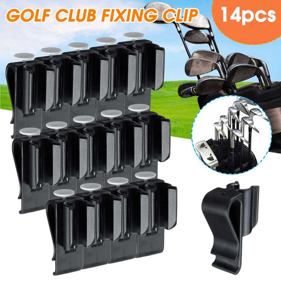 Premium 14 pcs Sports Golf Bag Clip On Putter Clamp Holder Putting Organizer Club Golf Club Grips Golf Equipment - goldylify.com