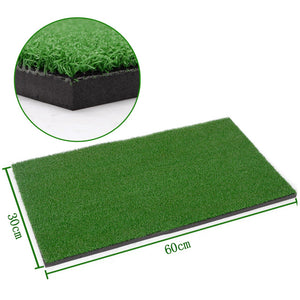 Rubber + Nylon Material  Golf Mat Golf Training Mat  Outdoor/Indoor Hitting Pad Practice Aid Equipment  60x30cm - goldylify.com