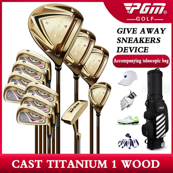 2020 New Pgm Gold Edition Golf Clubs  Full Set of Equipment Men's Professional Sets Bar High Rebound Casting Titanium No. 1 Wood - goldylify.com
