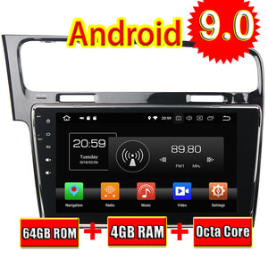 TOPNAVI Octa Core Android 9.0 Car Multimedia Player For VW Golf 7 2013-2015 Autoradio GPS Navigation Audio Stereo NO DVD 4+64G - goldylify.com