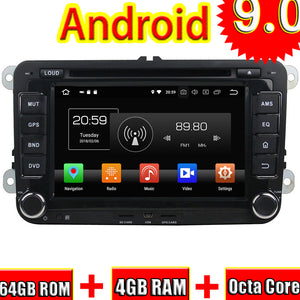 Topnavi Android 9.0 Car DVD Head Unit Player For VW PASSAT Golf TOUAREG Santana Jetta Seat/CC Radio Stereo 2 DIN GPS Navigation - goldylify.com
