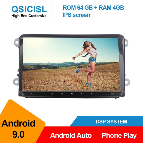 Android 9.0 universal car radio multimedia player for Volkswagen Polo Golf Passat Tiguan 2 din IPS 9