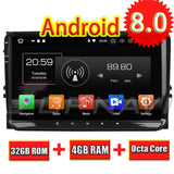 Topnavi Octa Core Android 8.0 Car Multimedia Player for VW Universal Magotan PASSAT Golf Radio Stereo 2DIN GPS Navigation NO DVD - goldylify.com