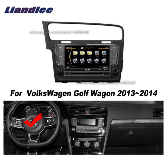 Liandlee For VolksWagen Golf / Wagon 2013~2014 Car Android Radio CD DVD Player GPS NAVI Maps HD Touch Stereo Media TV Multimedia - goldylify.com