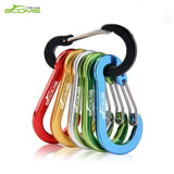 Booms Fishing CC1 6Pcs Aluminum Alloy Carabiner Keychain Outdoor Camping Climbing Snap Clip Lock Buckle Hook Fishing Tool 6Color - goldylify.com