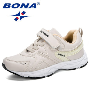 BONA 2020 New Designers Popular Sneakers Boys Girls Shoes Casual Running Shoes Children Sport Trainer Walking Shoes Kids Trendy|Sneakers