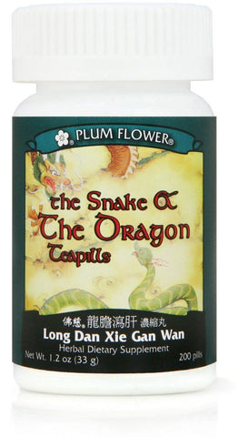 Plum Flower - Snake & The Dragon Teapills - Long Dan Xie Gan Wan | Best Chinese Medicines