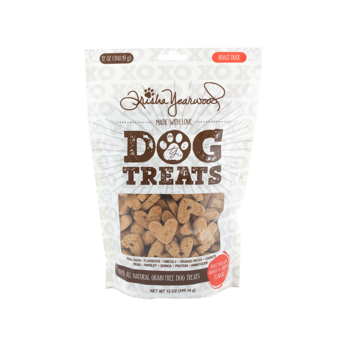 TY Pet Natural Grain-Free Dog Biscuits Treat Roasted Duck