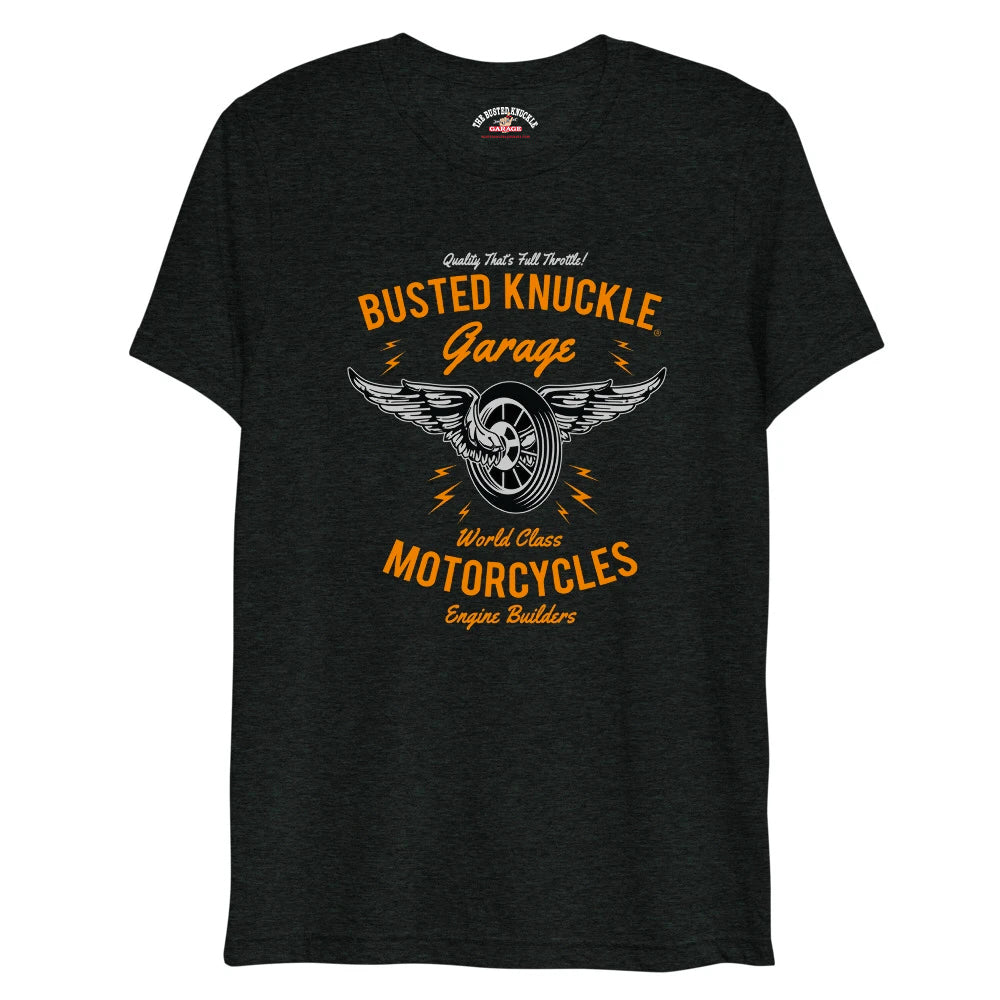 Busted Knuckle Motorcycles Garage Tri-Blend Shirt